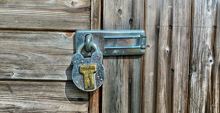 Garden shed lock